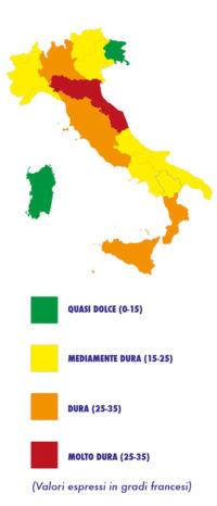 acqua durezza italia